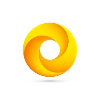Arte abstracto de signo de bucle infinito. ilustración vectorial
