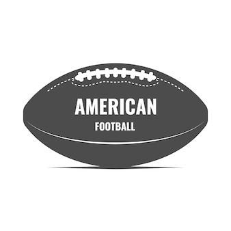 Arte del balón de fútbol americano. logotipo monocromo con pelota de rugby. camiseta estampada