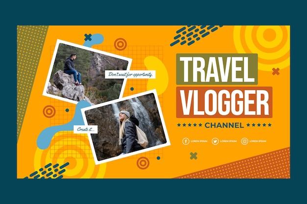 Arte del canal de youtube de aventura plana con foto