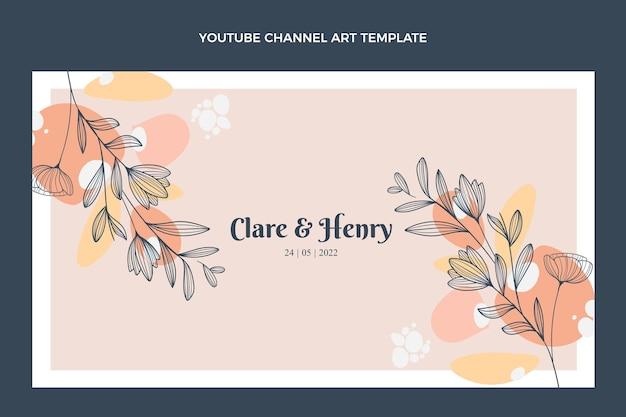 Arte del canal de youtube de boda dibujado a mano