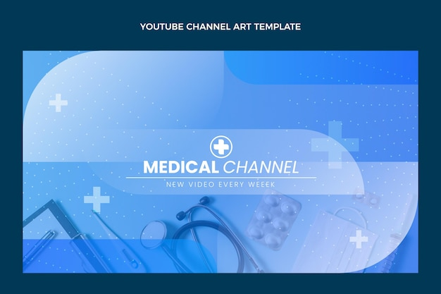 Arte del canal de youtube médico degradado