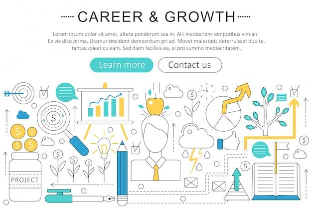 Arte de carrera y concepto de crecimiento.