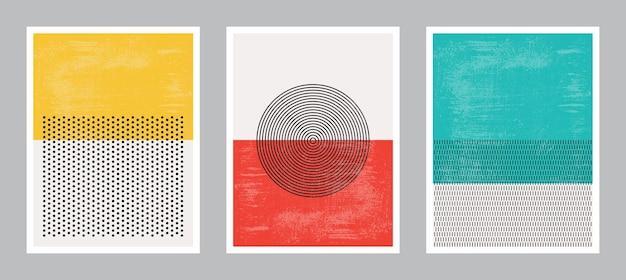 Arte de cartel moderno. colección set.