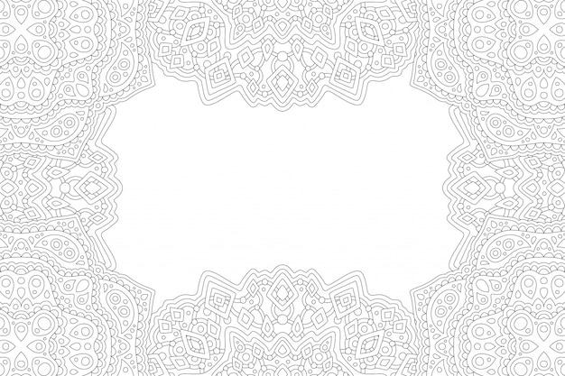 Arte para colorear para adultos con borde rectangular