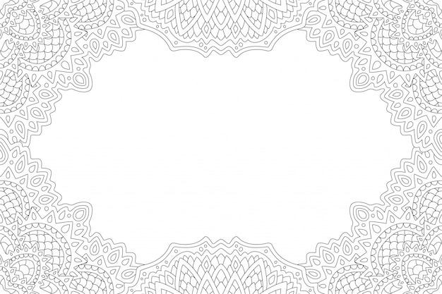 Arte para colorear página con borde abstracto