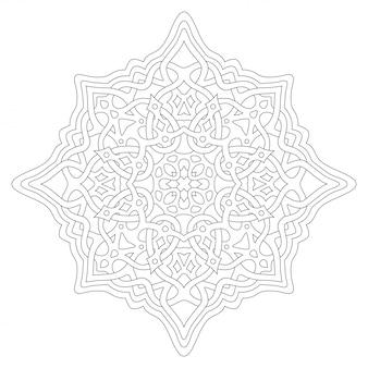 Arte para colorear página con diseño celta