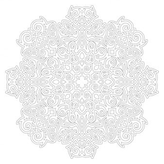 Arte para colorear página con patrón vintage