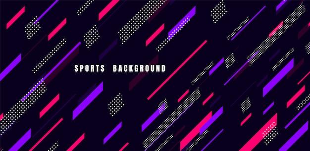 Arte colorido abstracto para el fondo de los deportes. partículas dinámicas