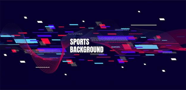 Arte colorido abstracto para el fondo de los deportes.