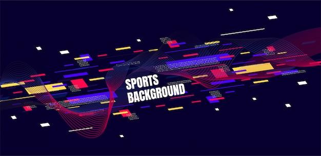 Arte colorido abstracto para el fondo de deportes