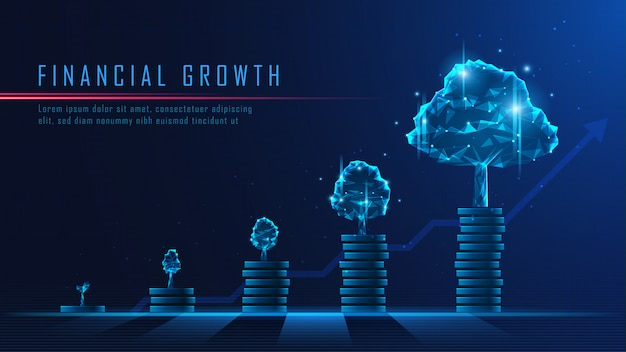 Arte conceptual del crecimiento financiero.