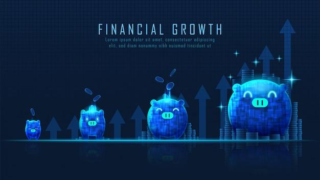 Arte conceptual del crecimiento financiero