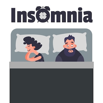 Arte conceptual de insomnio insomne
