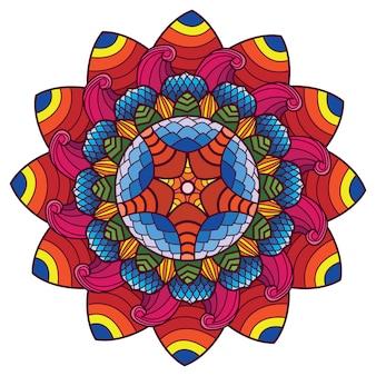 Arte decorativa mandala flor