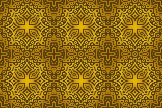 Arte dorado con lujo de patrones sin fisuras abstractas