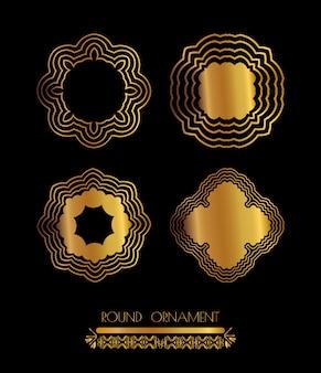 Arte dorado mandala
