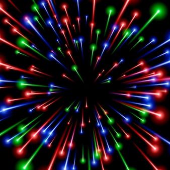 Arte espacial rgb, energía de rayos de color.