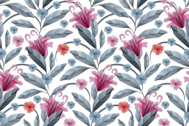 Arte floral de patrones sin fisuras.
