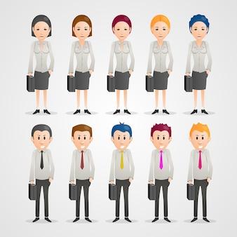 Con arte de gente feliz de dibujos animados. ilustración vectorial