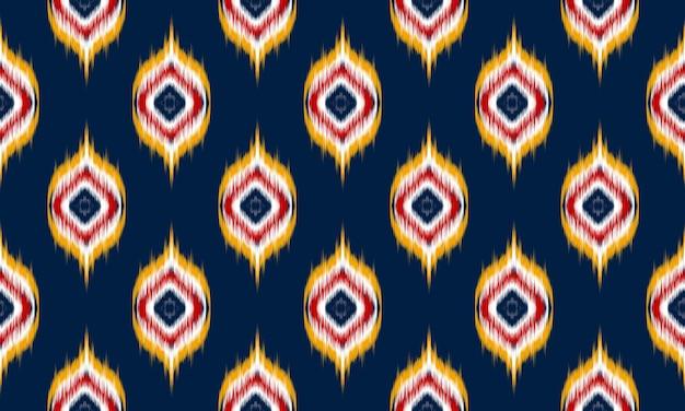 Arte ikat abstracto étnico. patrones sin fisuras en tribal.