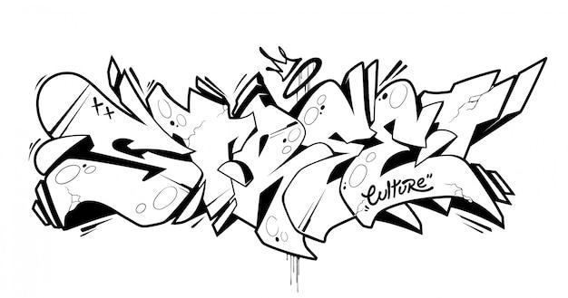 Arte de letras de graffiti callejero