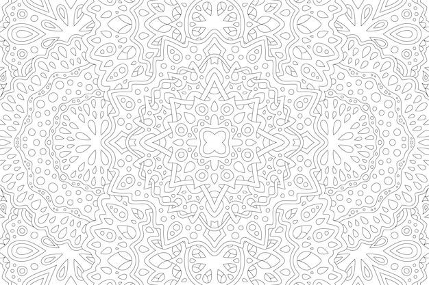 Arte para libro de colorear para adultos con patrón lineal