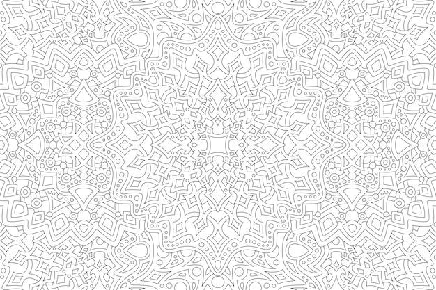 Arte para libro de colorear para adultos con patrón de rectángulo