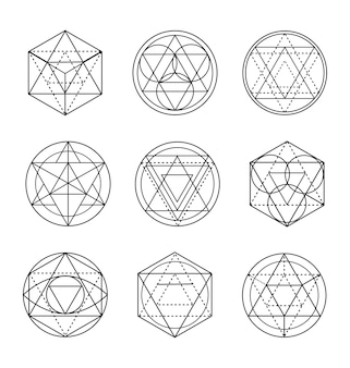 Arte de la línea de geometría sagrada