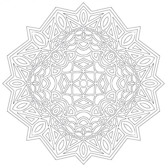 Arte de línea de mandala para colorear