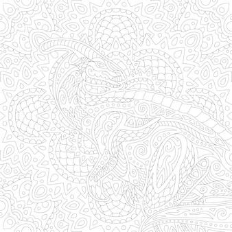 Arte lineal para colorear libro