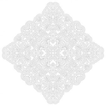 Arte lineal para colorear página con corazones
