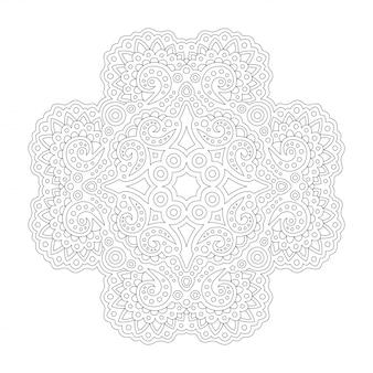 Arte lineal para colorear con patrón oriental