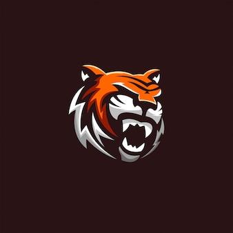Arte de logotipo de tigre león