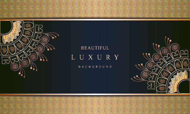 Arte de lujo con fondo de color dorado de lujo estilo oriental