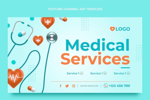 Arte médico realista del canal de youtube