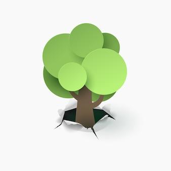 Arte de papel del árbol