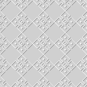 Arte de papel blanco cuadrado check cross frame geometry, elegante fondo de patrón de decoración para banner web tarjeta de felicitación