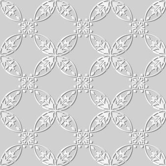 Arte de papel blanco curva redonda cruz marco flor de vid, elegante fondo de patrón de decoración para banner web tarjeta de felicitación