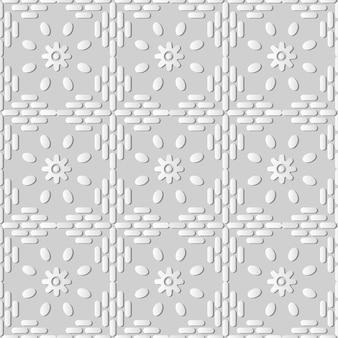 Arte de papel blanco flor de línea de marco cruzado redondo, fondo de patrón de decoración elegante para tarjeta de felicitación de banner web