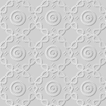 Arte de papel blanco línea de marco cruzado de curva de punto redondo, fondo de patrón de decoración elegante para tarjeta de felicitación de banner web