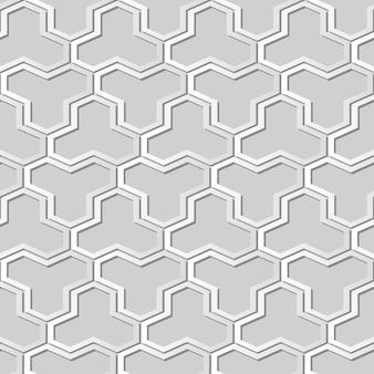 Arte de papel blanco polígono geometría marco cruzado, elegante fondo de patrón de decoración para tarjeta de felicitación de banner web