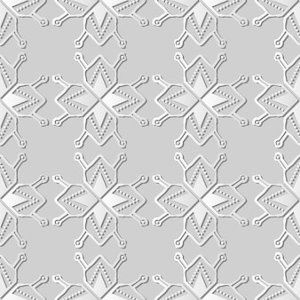 Arte de papel blanco polygon star geometry cross dot frame line, fondo de patrón de decoración elegante para tarjeta de felicitación de banner web