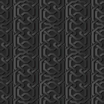 Arte de papel oscuro polígono geometría marco cruzado cadena línea