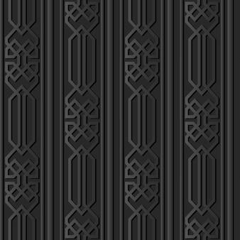 Arte de papel oscuro polígono verificar geometría línea de marco cruzado
