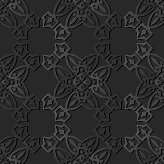 Arte de papel oscuro polygon check cross curve frame crest