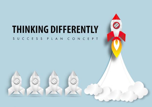 El arte del papel de pensar de manera diferente