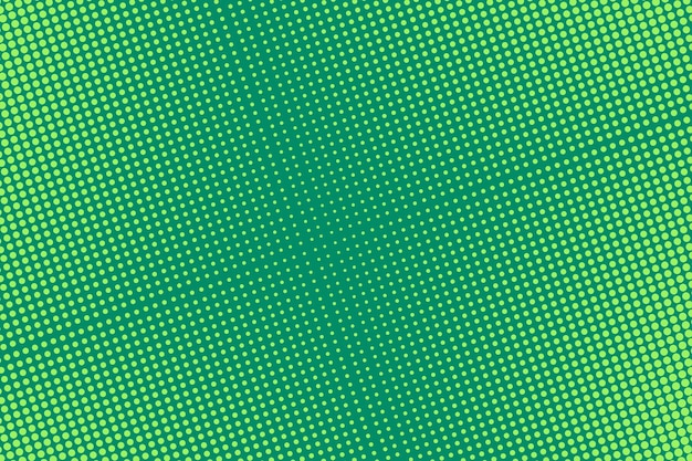 Arte pop con medios tonos. fondo punteado cómico. impresión de medio tono verde. ilustración.