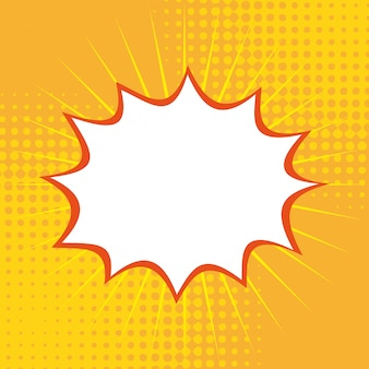 Arte pop sobre fondo amarillo ilustración vectorial