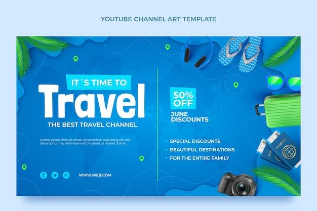 Arte realista del canal de youtube de viajes.