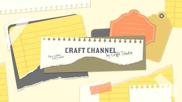 Arte retro del canal de youtube de artesanía